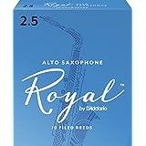 Rico Royal Alto Sax Reeds, Strength 2.5, 10-pack