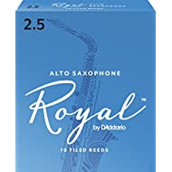 Royal by D'Addario Alto Sax Reeds, Strength 2.5, 10-pack