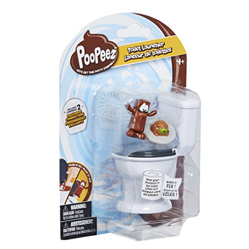 Poopeez Series 1 Toilet Launcher Playset Squishy Collectible Toy (Porta Potty Toy)