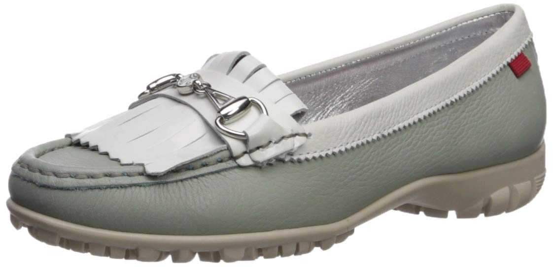 MARC JOSEPH NEW YORK Womens Leather Made in Brazil Lexington Golf Shoe, Mint Grainy, 8.5 M US by MARC JOSEPH NEW YORK