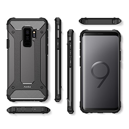 Galaxy S9 Plus Case, Aeska [Dual Layer] Heavy Duty Drop ...