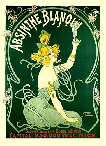 Lady Girl Absinthe Blanqui Nice France French Drink Bar Restaurant 12
