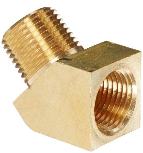 Eaton Weatherhead 3350X8 Brass CA360 Fitting, 45 Degree Elbow, 1/2