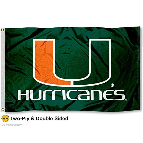 Miami Hurricanes Double-Sided 3x5 Flag