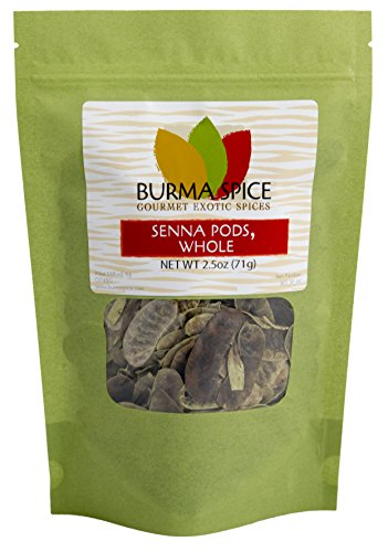 Senna Pods : Natural Dried Herb: Loose Leaf Tea : No additives : Kosher (2.5oz.) (Alexandria La Shops Flower)