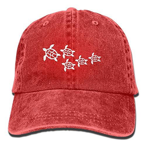 Unisex Baseball Cap Cotton Denim Hat Hawaii Sea Turtle Adjustable Snapback Cricket Cap