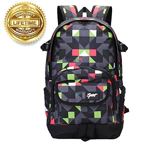 School Backpack School Bag Boys Student Bookbag Laptop Backpack for College  High Middle School Travel f0bd17bbef