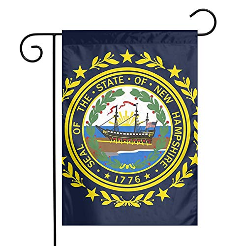 New Hampshire State Flag 3D Printed Garden Flag Indoor Outdoor Home Decor Party Home Banners-12¡±W X 18