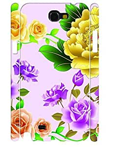 3D Print Pretty Red Roses Pattern High Impact Phone Hard Case for Samsung Galaxy Note 2 N7100