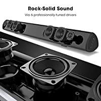 Soundbar, 100Watt 40 Inch BYL Sound Bar Wireless and Wired Audio Bluetooth Speakers for TV (2018 upgraded, 60 Days Home Trial) from BYL