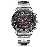 LONGBO Unique Business Wristwatches Fashion Stainless Steel Starp Sport Miliatry Analog Quartz Watch For Men - 80132 Black