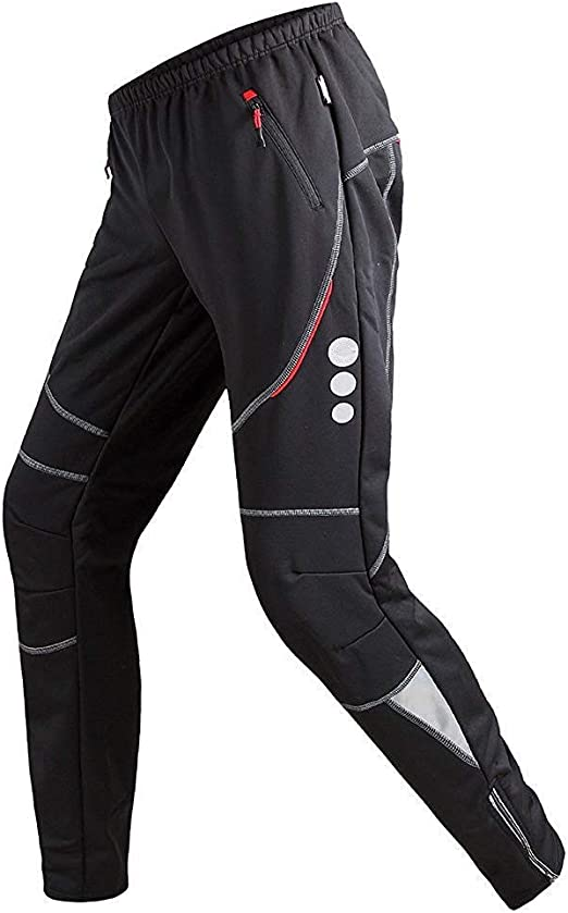Winter Cycling Pants Bicycle Trousers Bike Sports Tights Thermal Mens Clothing