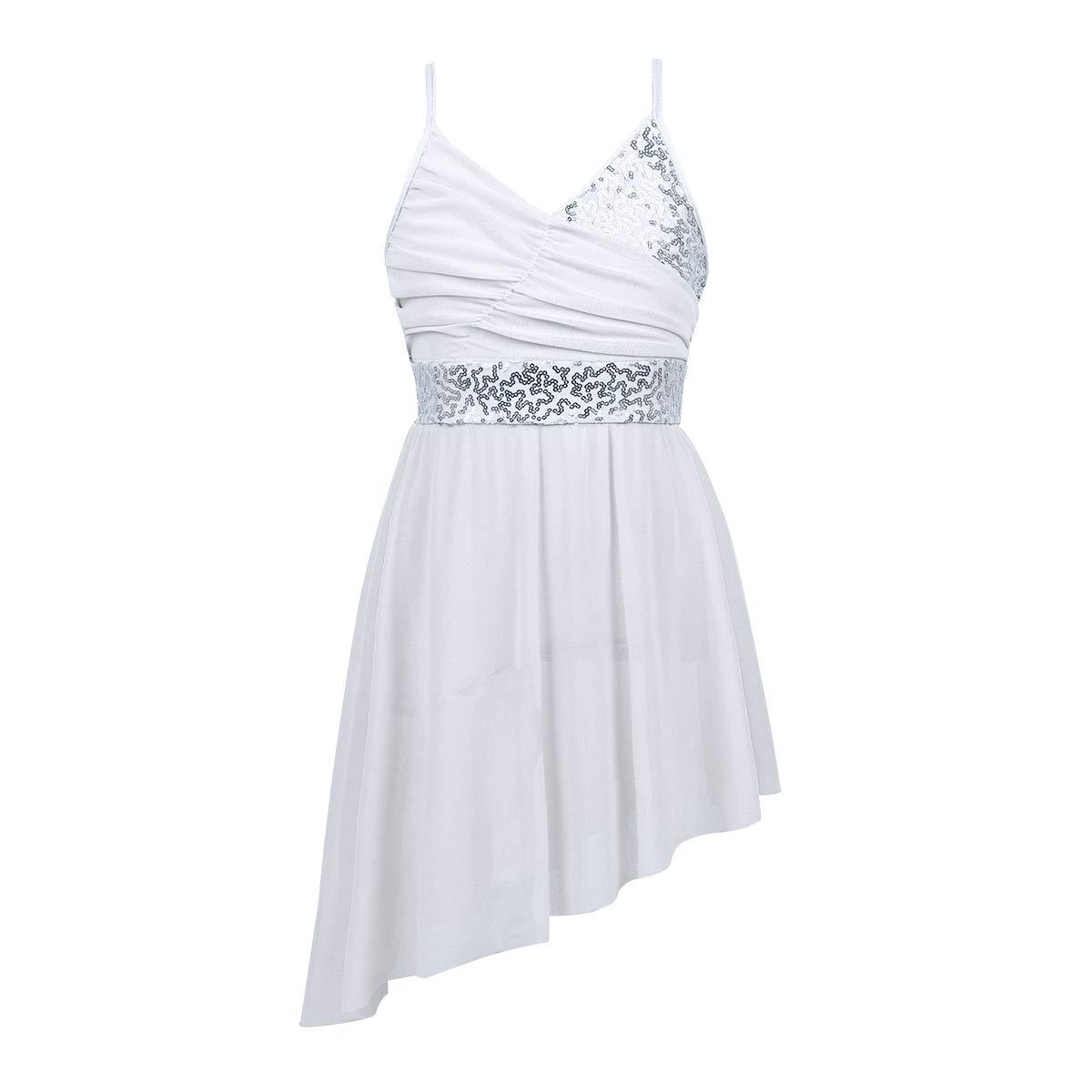 Agoky DRESS ガールズ B07J68PWR3  ホワイト 43813