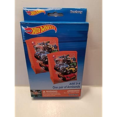 Bestway INFLATABLE ARMBANDS FOR THE WATER HOT WHEELS DESIGN: Toys & Games