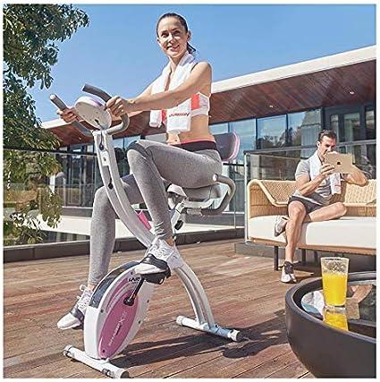 SYLTL Doméstico Fitness Bike Plegable Mudo Tonificación de Todo el ...