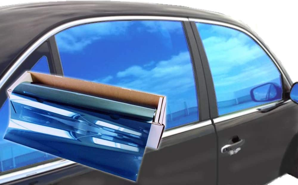 "JNK NETWORKS Reflective Shield Ceramic Window UV Tint Film for Cars Trucks Tractors (Blue, 20"" x 10')"
