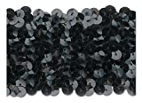 BLACK 2 INCH STRETCH SEQUIN-NEW!!!! LOW PRICE 10 Yards