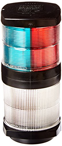 - HELLA 002984601 '2984 Series' 12V DC 2 NM Tri-Color Light with White All-Round Anchor Light and Black Housing