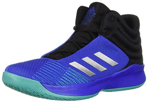 adidas Unisex Pro Spark 2018 K Wide Basketball Shoe, hi-res Blue/Silver Metallic/Black, 4.5 M US Big Kid