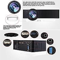 Quarice®Proyector 1500LM [Mini 1080p Pantalla 40-150 Zoom 16:9 ...