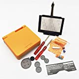 EXSEK Limited Replacement Housing Shell Pack with NAVY Buttons for Nintendo Gameboy Advance SP (Orange)