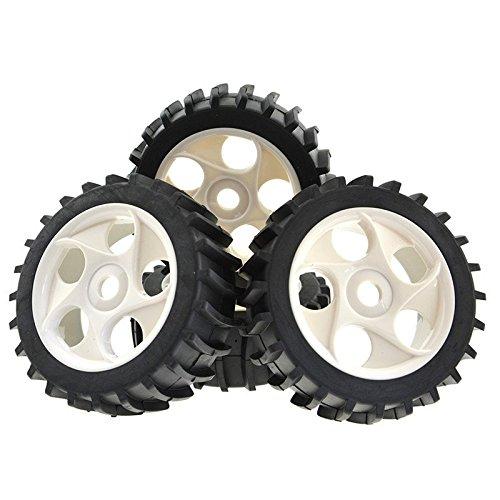 Rowiz 4pcs Gray Beach Desert/Snow Tires 5 Holes Wheels Hex 17mm for 1/8 RC Off Road Buggy Baja