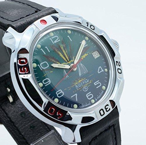 Vostok KOMANDIRSKIE 811976/2414 a Militar ruso de las fuerzas especiales reloj verde: Amazon.es: Relojes