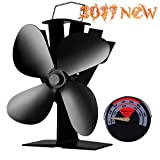 Heat Powered Stove Fan-2017 New Designed Silent Operation 4...