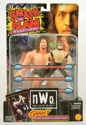 NWO - 1999 - Smash 'n Slam Wrestlers - Giant w/ Rey Mysterio Jr Bonus Figure - Toy Biz - Very Rare - Limited Edition - Mint - Collectible