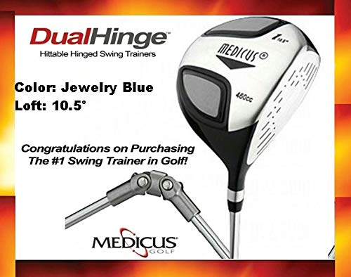 (Medicus Golf Club Swing Trainer Aids - Dual Hinge Driver with Dual Hinge Putter - Swing Correcting Training Package)