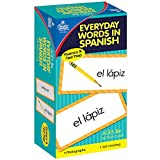 Carson Dellosa - Everyday Words in Spanish / Palabras de Todos Los Días Flash Cards - Toddler Learning Cards ESL Bilingual for Kids and Adults