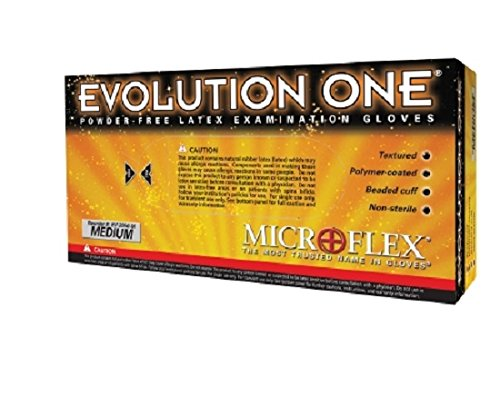 Microflex Evolution One Powder-Free Medical Grade Latex Exam Gloves (1000 Gloves) by Evolution One