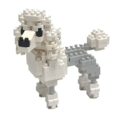 Nanoblock Poodle Building Kit, White: Toys & Games
