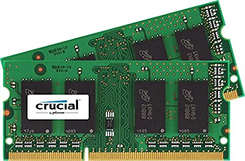 Crucial 16GB Kit (2 x 8GB) DDR3L-1600 1600 MT/S SODIMM Memory for Mac (CT2K8G3S160BM) (Sdram Ddr3l De 8 Gb A 1600 Mhz)