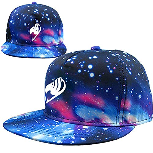 UU-Style Halloween Fairy Tail Hat Starry Galaxy Adjustable Night Luminous Cap Hat -
