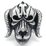 fitbit band bulldog - Daesar Stainless Steel Rings Mens Biker Rings Men Silver Black Rings Bulldog Style Biker Rings Size:8