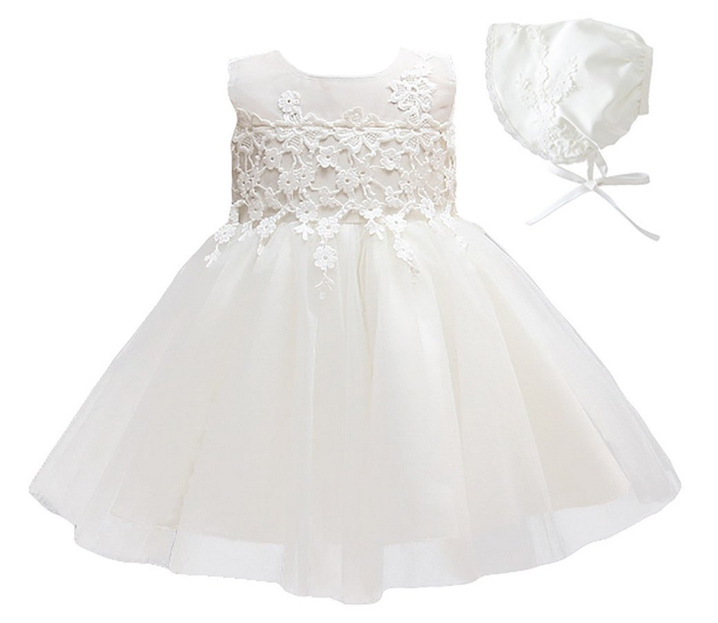 Amazon.com: Happy Cherry Baby Christening Dress Girls Floral Tea-length Tutu Skirt with Hat: Clothing