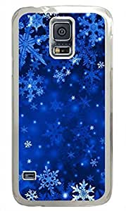 Transparent Fashion Case for Samsung Galaxy S5 Generation Plastic Case Cover for Samsung Galaxy S5 with Snowflake