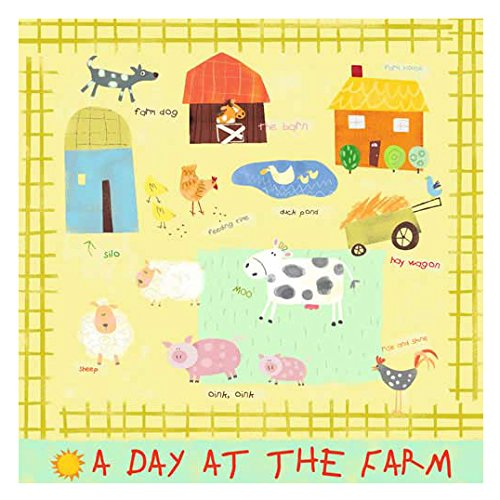 Oopsy Daisy A Day At The Farm Stretched Art by Oopsy Daisy