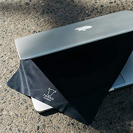 TORRO Microfiber Cloth Extra Large 28 x 28 cm, Pack of 2, Black