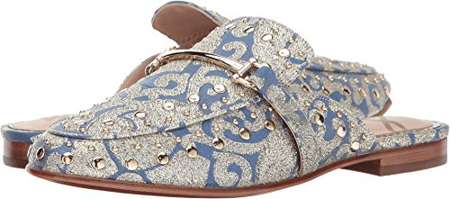 Marilyn Mule, Blue/Multi/Metallic Jacquard, 6.5 Medium US (Metallic Jacquard)