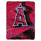 MLB Los Angeles Angels Speed Plush Raschel Throw Blanket, 60x80-Inch