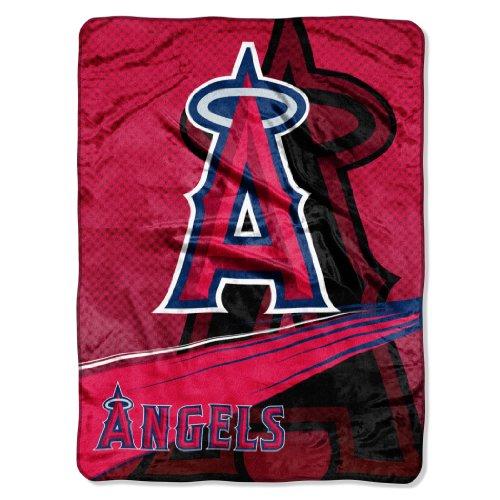 MLB Los Angeles Angels Speed Plush Raschel Throw Blanket, 60x80-Inch