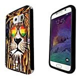 Cannibas Best Deals - 716 - Rasta Lion Weed Cannibas Hair Jamaican Design Samsung Galaxy Note 5 Full Body CASE With Build in Screen Protector Rubber Defender Shockproof Heavy Duty Builders Protective Cover