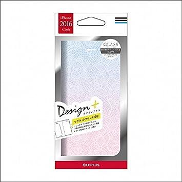 8c0ed784a6 LEPLUS iPhone 7用 手帳型 PUレザーケース(Flower パープル) Design+ LP-