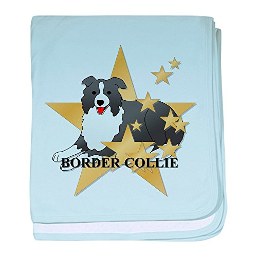 (CafePress - Border Collie Stars - Baby Blanket, Super Soft Newborn Swaddle)