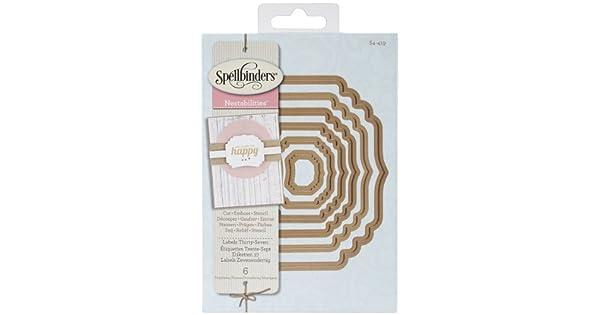 Spellbinders Etiqueta 1 Plus Die Nestabilities 4 máquina de corte de artesanía muere cualquier