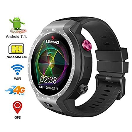 RENYAYA 4G Sim Smart Watch Dual Systems Android 7.1.1 LTE 5MP ...
