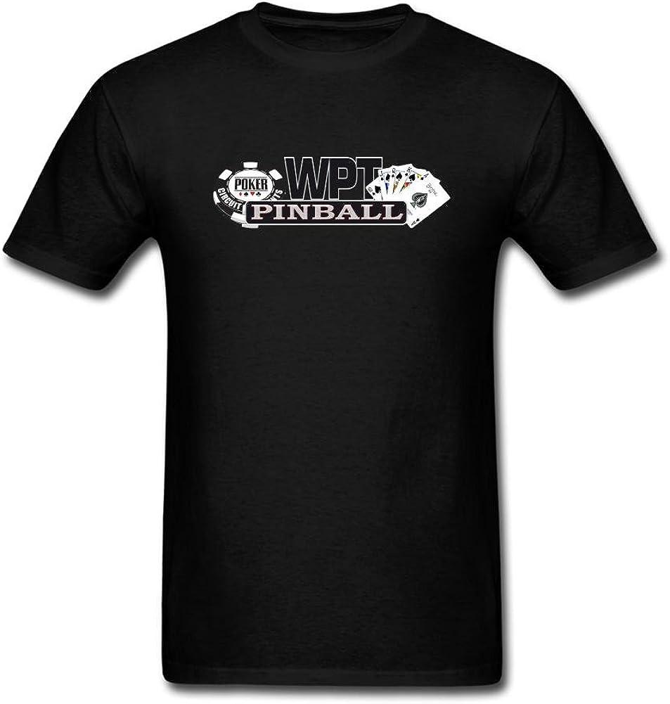 Feixia Men's WPT World Poker Tour DIY Cotton Short Sleeve T Shirt