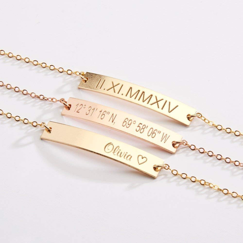 Coordinate Bracelet Best Friend Gift Christmas Gift Custom Bracelet Bridesmaid Gift Love Bracelet Friendship Bracelet Name Bracelet